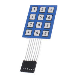 4x3 matrix keypad blue/white