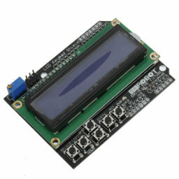 2x16 LCD with keypad shield